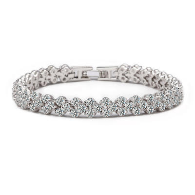 "Bracelets Zircon/Platinum Plated Ladies' Shining 6.69""(Approx.17cm)/7.48""(Approx.19cm) Wedding & Party Jewelry (011164564)"