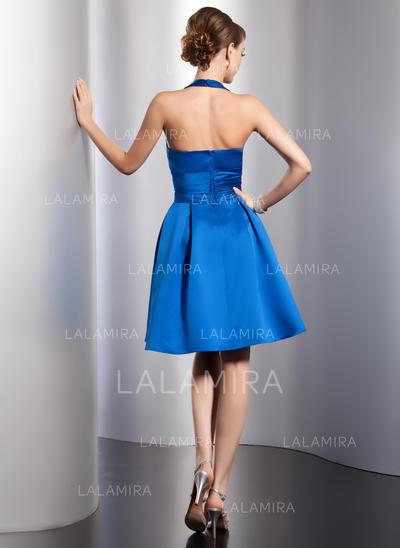 59be4bfc03e A-Line Princess Knee-Length Homecoming Dresses Halter Satin Sleeveless  (022213992)