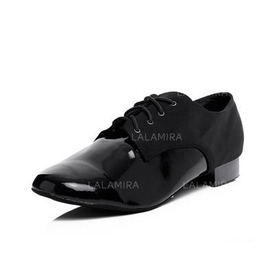 Men's Ballroom Heels Leatherette With Lace-up Dance Shoes (053178615)