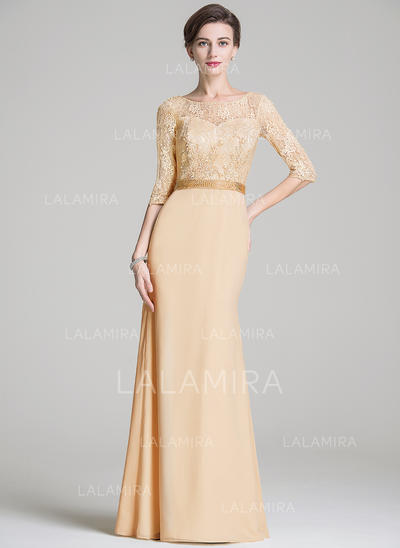 Trumpet/Mermaid Scoop Neck Chiffon Lace Newest Mother of the Bride Dresses (008211530)