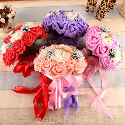 "Bridal Bouquets Free-Form Wedding Silk 13.78""(Approx.35cm) Wedding Flowers (123189779)"