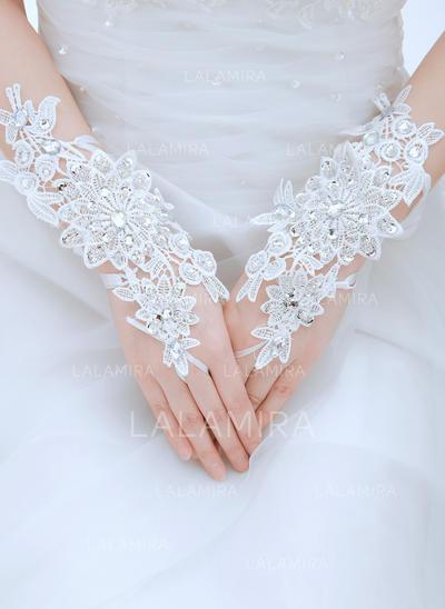 Lace Ladies' Gloves Wrist Length Bridal Gloves Fingerless Gloves (014191992)