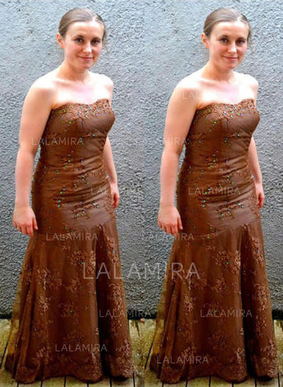 Forme Princesse Sans bretelle Tulle Chic Robes mère de la mariée (008212746)