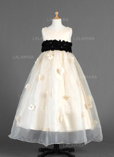 Ankle-length Sleeveless Organza/Charmeuse With Luxurious Flower Girl Dresses (010014654)