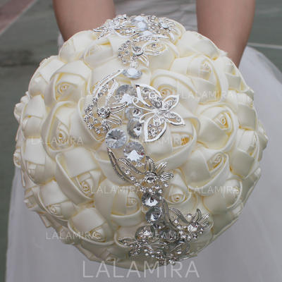 """Bridal Bouquets Round Wedding/Party Satin 9.84""""(Approx.25cm) Wedding Flowers (123190075)"""