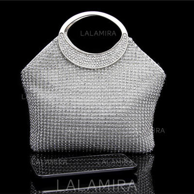 """Clutches/Satchel Wedding/Ceremony & Party Crystal/ Rhinestone Bright 6.3""""(Approx.16cm) Clutches & Evening Bags (012187257)"""