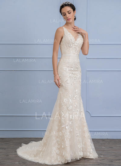 Lace Trumpet/Mermaid With Newest General Plus Wedding Dresses (002106068)