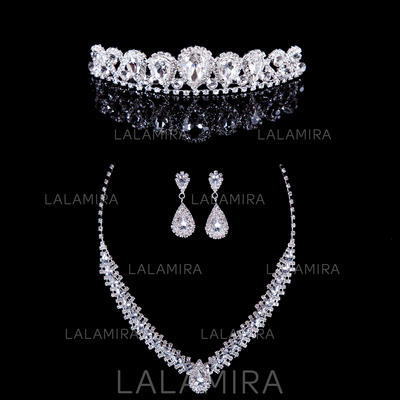 Jewelry Sets Alloy/Rhinestones Rhinestone Lobster Clasp Pierced Wedding & Party Jewelry (011163854)
