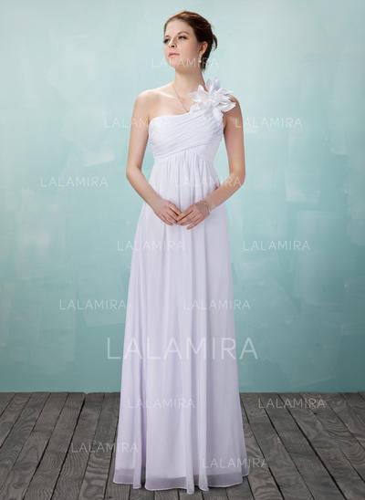 Lujoso Corte imperial con Gasa Vestidos de novia (002004475)