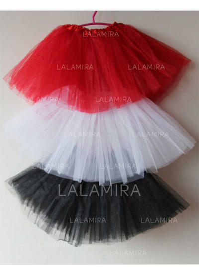 Bustle Short-length Tulle Netting/Satin Ball Gown Slip/Flower Girl Slip 2 Tiers Petticoats (037190862)