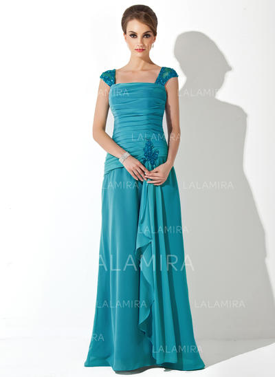 Newest Chiffon Square Neckline A-Line/Princess Mother of the Bride Dresses (008006222)
