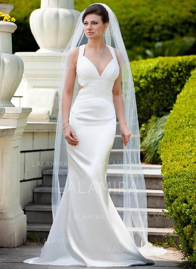 Cathedral Bridal Veils Tulle One-tier Drop Veil/Mantilla With Pencil Edge Wedding Veils (006151013)