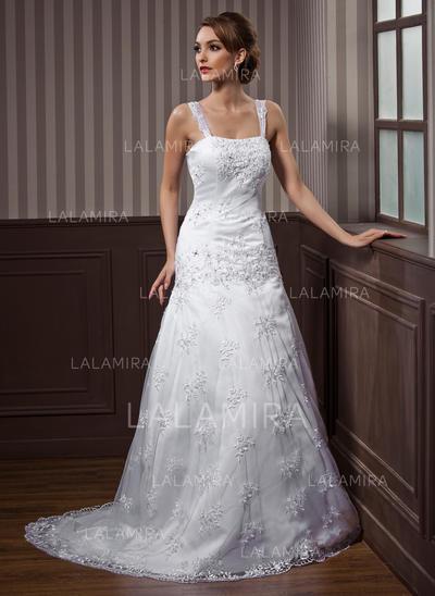 Dentelle Forme Princesse Flatteur Brodé Robes de mariée (002012140)