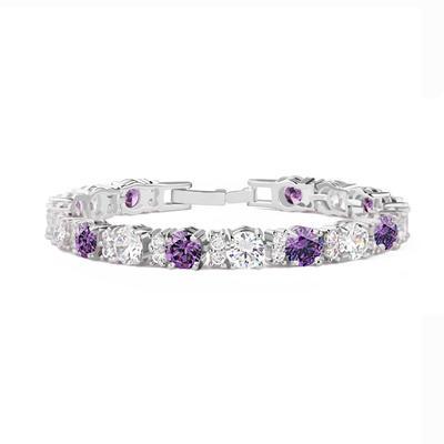 """Bracelets Cuivre/Zircon de/Platine plaqué Dames Magnifique 6.69""""(Approximative 17cm)/7.48""""(Approximative 19cm) Mariage & Bijoux de Soirée (011061674)"""