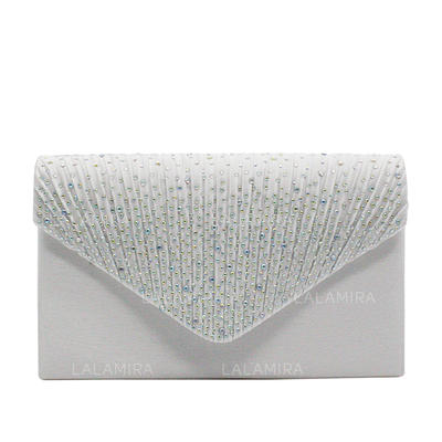 Clutches/Luxury Clutches Wedding/Ceremony & Party/Casual & Shopping/Office & Career Crystal/ Rhinestone Snap Closure Elegant Clutches & Evening Bags (012187797)