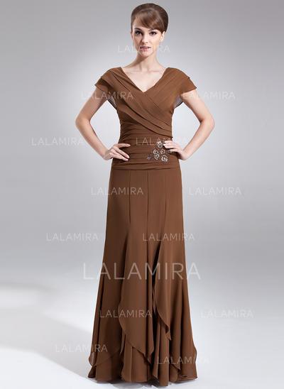 Gorgeous Chiffon V-neck A-Line/Princess Mother of the Bride Dresses (008006059)