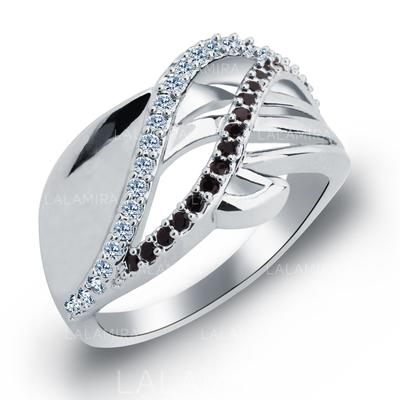 Rings Zircon/Platinum Plated Ladies' Pretty Wedding & Party Jewelry (011165401)