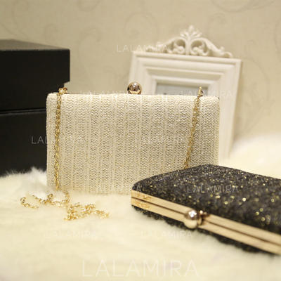 Clutches Wedding/Ceremony & Party PU Push-lock frame closure Elegant Clutches & Evening Bags (012187834)
