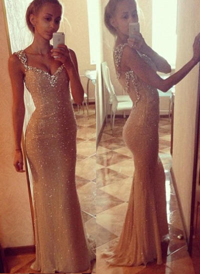 2019 New Sequined Trumpet/Mermaid Sweetheart Prom Dresses (018146584)