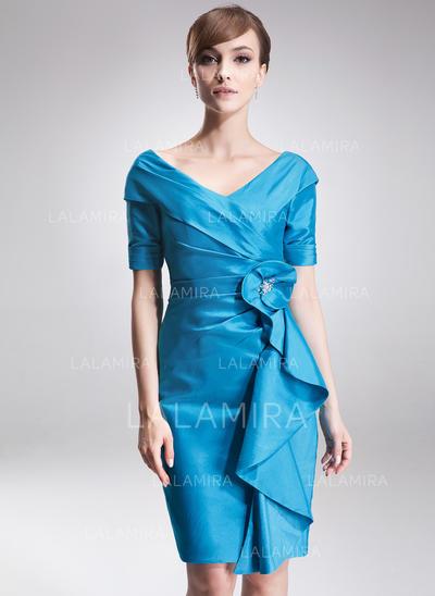 Elegant Taffeta Off-the-Shoulder Sheath/Column Mother of the Bride Dresses (008006275)