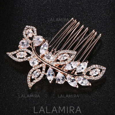 """Combs & Barrettes Wedding Crystal/Alloy 2.56""""(Approx.6.5cm) 2.36""""(Approx.6cm) Headpieces (042159267)"""