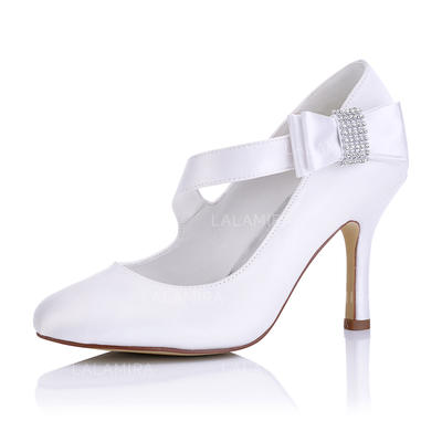 Women's Pumps Stiletto Heel Satin With Others Wedding Shoes (047206795)