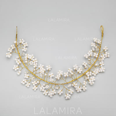 """Headbands Wedding/Special Occasion/Party Alloy/Imitation Pearls 13.78""""(Approx.35cm) 2.56""""(Approx.6.5cm) Headpieces (042154833)"""