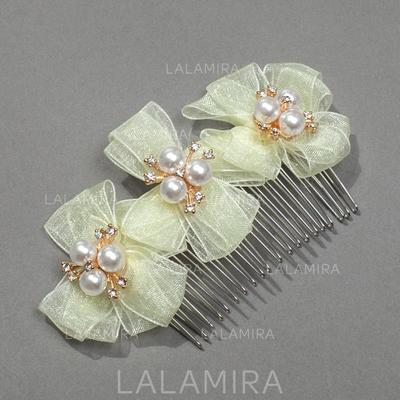 """Combs & Barrettes Wedding/Special Occasion/Party Ribbon 3.15""""(Approx.8cm) 1.97""""(Approx.5cm) Headpieces (042156048)"""