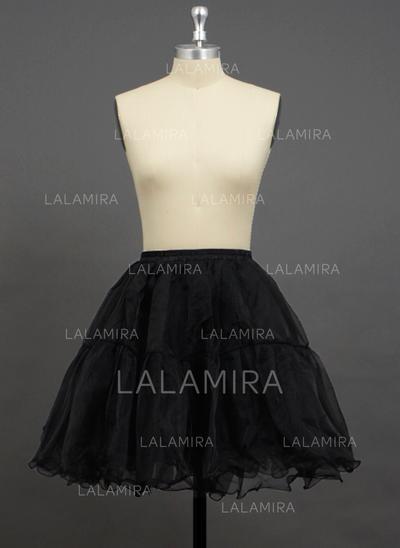 Petticoats Short-length Organza/Polyester A-Line Slip/Half Slip 2 Tiers Petticoats (037190742)