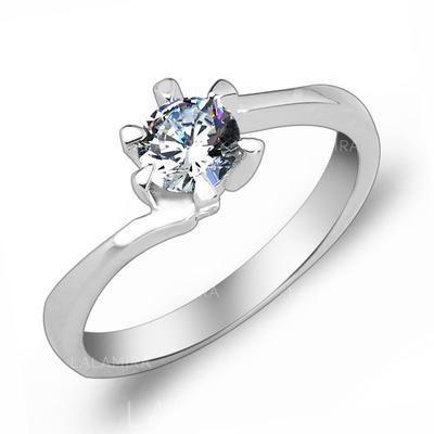 Rings Zircon/Platinum Plated Ladies' Elegant Wedding & Party Jewelry (011166711)