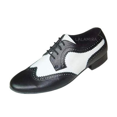 Men's Latin Ballroom Swing Flats Real Leather Dance Shoes (053178186)