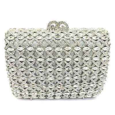Clutches/Luxury Clutches Wedding/Ceremony & Party Crystal/ Rhinestone/Alloy Kiss lock closure Gorgeous Clutches & Evening Bags (012186136)