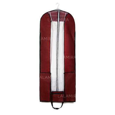 Garment Bags Dress Length Center Zip Nonwoven Fabric Burgundy Wedding Garment Bag (035192303)