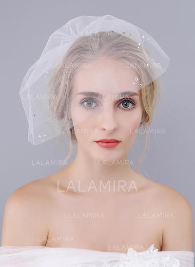 Velos colorete Tul Uno capa Estilo clásico con Corte de borde Velos de novia (006104367)