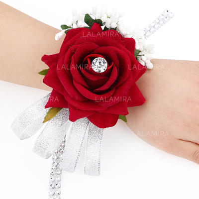 "Wrist Corsage Rosy Wedding/Party/Casual Fabric 3.54"" (Approx.9cm) Wedding Flowers (123190167)"