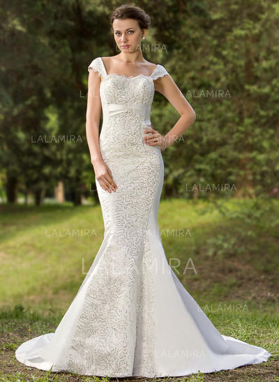 Gorgeous General Plus Sweetheart Trumpet/Mermaid Satin Wedding Dresses (002196870)