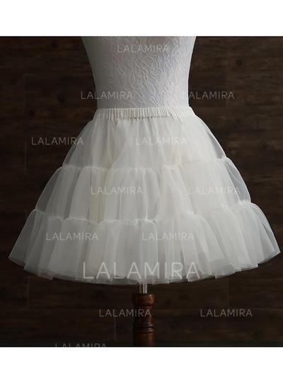 Petticoats Tulle Netting/Taffeta A-Line Slip 2 Tiers Wedding Petticoats (037190866)
