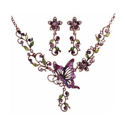 Jewelry Sets Alloy/Czech Stones/Coloured Glaze Lobster Clasp Pierced Ladies' Wedding & Party Jewelry (011164598)