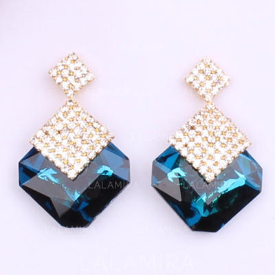 Earrings Alloy/Rhinestones Pierced Ladies' Shining Wedding & Party Jewelry (011166856)