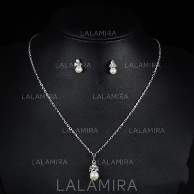 Jewelry Sets Alloy/Rhinestones Lobster Clasp Pierced Ladies' Wedding & Party Jewelry (011167362)