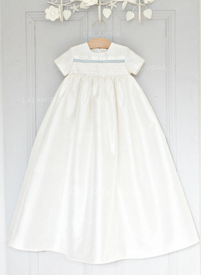 A-Line/Princess Scoop Neck Floor-length Satin Christening Gowns (2001216812)