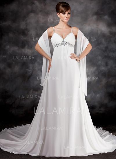 Gasa Corte imperial Cola capilla Corazón Vestidos de novia (002211309)