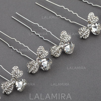 "Hairpins Wedding/Special Occasion/Party Rhinestone/Alloy 2.99""(Approx.7.6cm) 0.87""(Approx.2.2cm) Headpieces (042155723)"