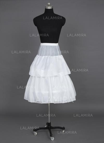 Petticoats Floor-length Tulle Netting/Taffeta Full Gown Slip/Flower Girl Slip 2 Tiers Petticoats (037190692)