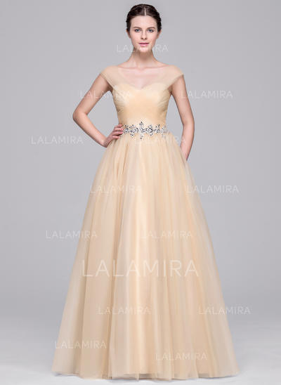 modern tulle wedding dresses with ball-gown