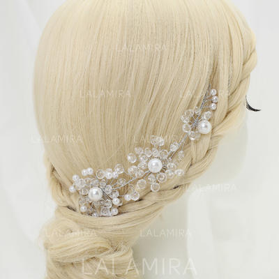 """Headbands Party Crystal/Alloy/Imitation Pearls 6.89""""(Approx.17.5cm) 1.97""""(Approx.5cm) Headpieces (042155296)"""