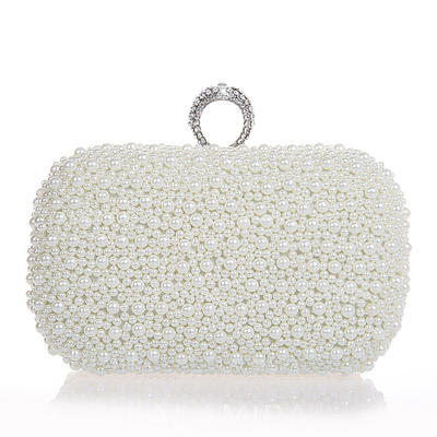 Clutches Wedding/Ceremony & Party Pearl Clip Closure Elegant Clutches & Evening Bags (012185238)