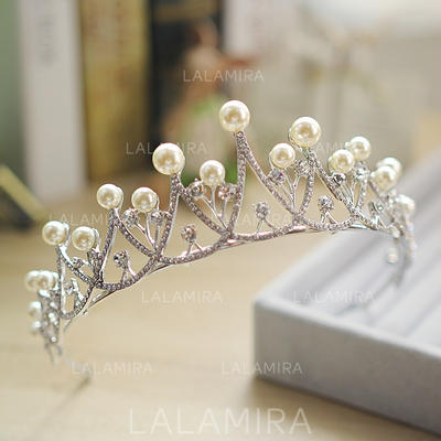 "Tiaras Wedding Alloy/Imitation Pearls 10.63""(Approx.27cm) 1.77""(Approx.4.5cm) Headpieces (042158680)"