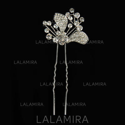 "Hairpins Wedding Alloy/Silver Plated 5.12""(Approx.13cm) 1.57""(Approx.4cm) Headpieces (042155860)"
