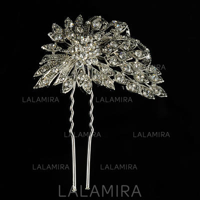 "Hairpins Wedding/Special Occasion/Casual/Outdoor/Party Rhinestone/Alloy 2.95""(Approx.7.5cm) 2.36""(Approx.6cm) Headpieces (042157239)"